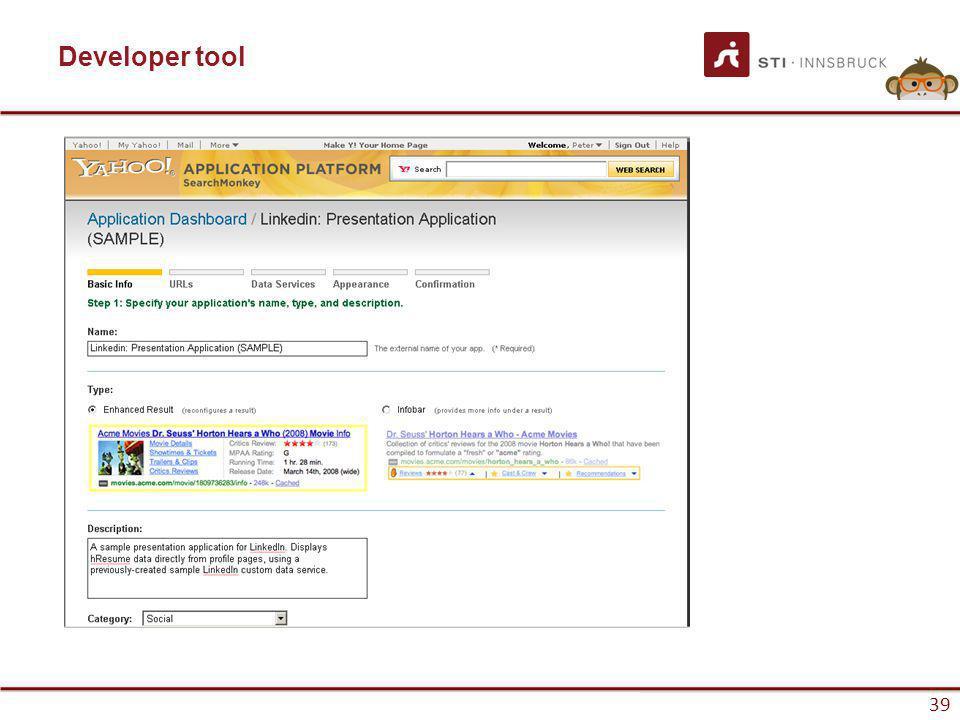 www.sti-innsbruck.at 39 Developer tool