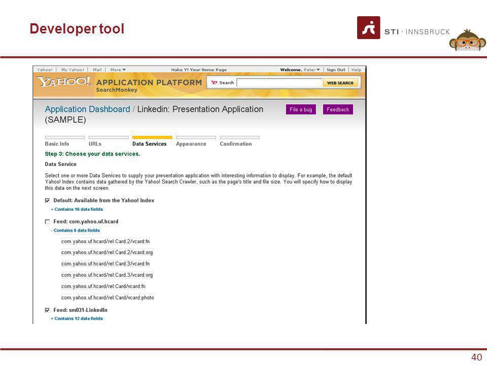 www.sti-innsbruck.at 40 Developer tool