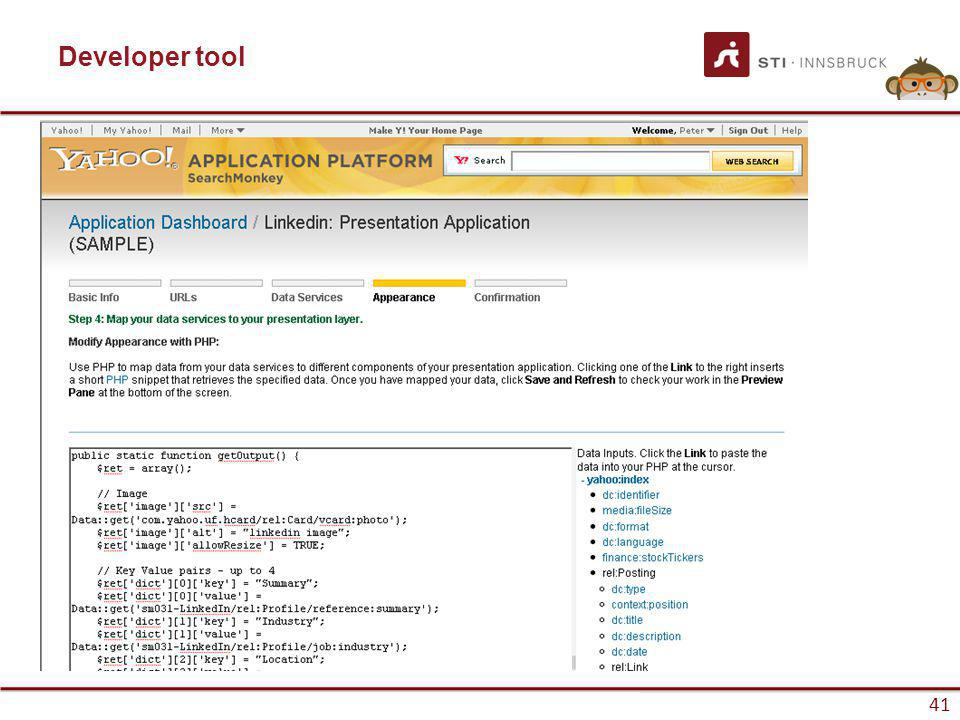 www.sti-innsbruck.at 41 Developer tool