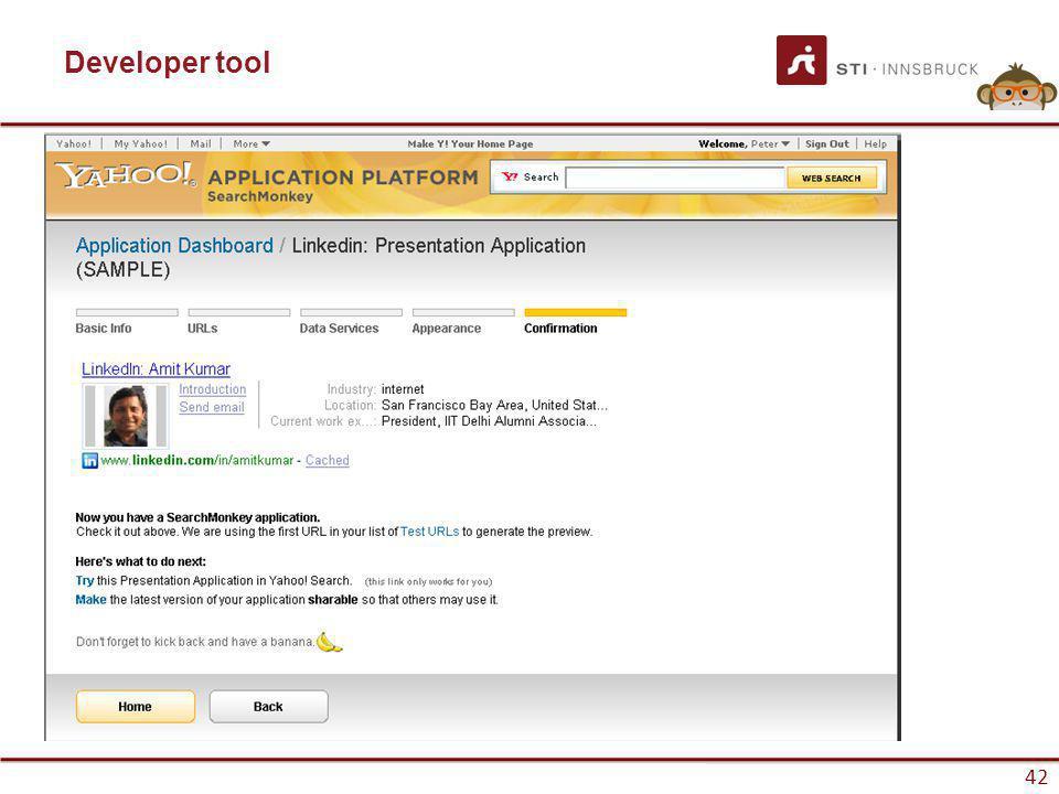 www.sti-innsbruck.at 42 Developer tool