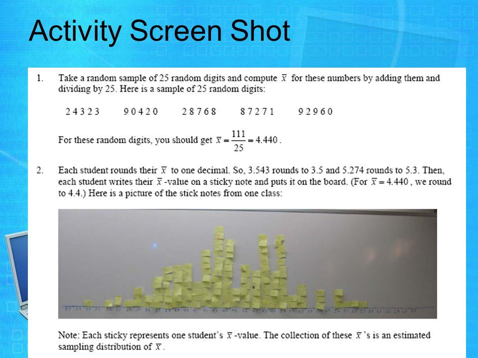 Activity Screen Shot