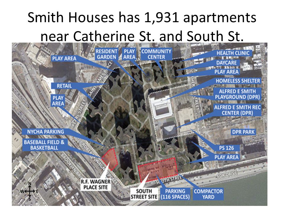 Smith Houses has 1,931 apartments near Catherine St. and South St.