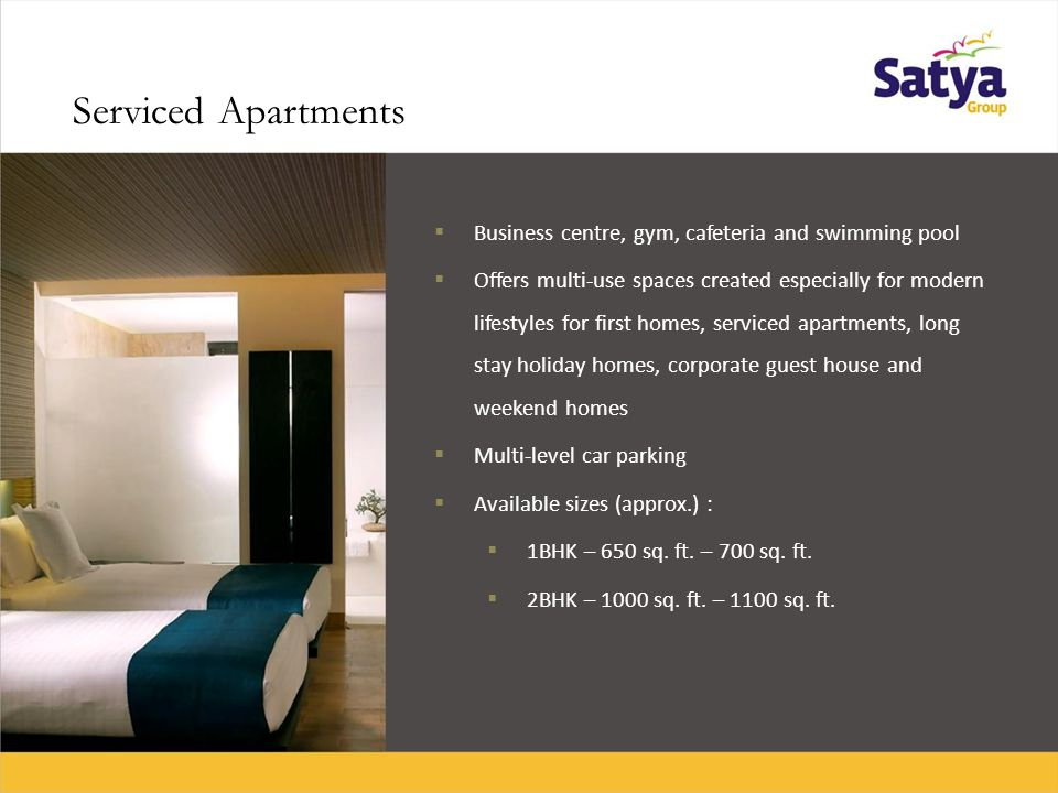 Specifications of Serviced Apartments