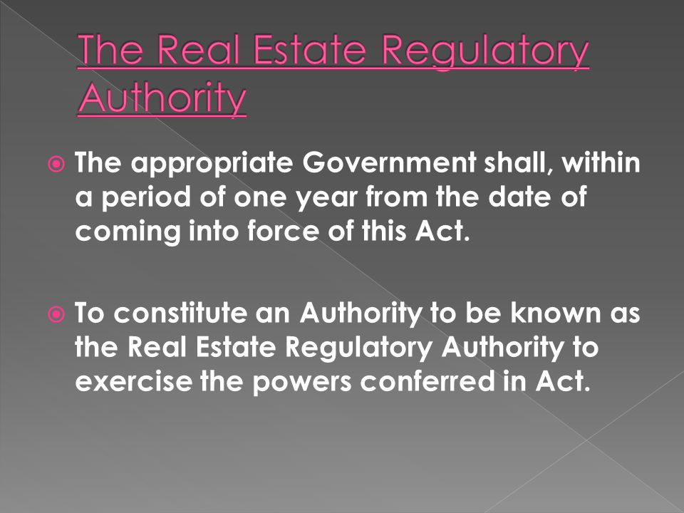 The appropriate Government shall, within a period of one year from the date of coming into force of this Act. To constitute an Authority to be known a