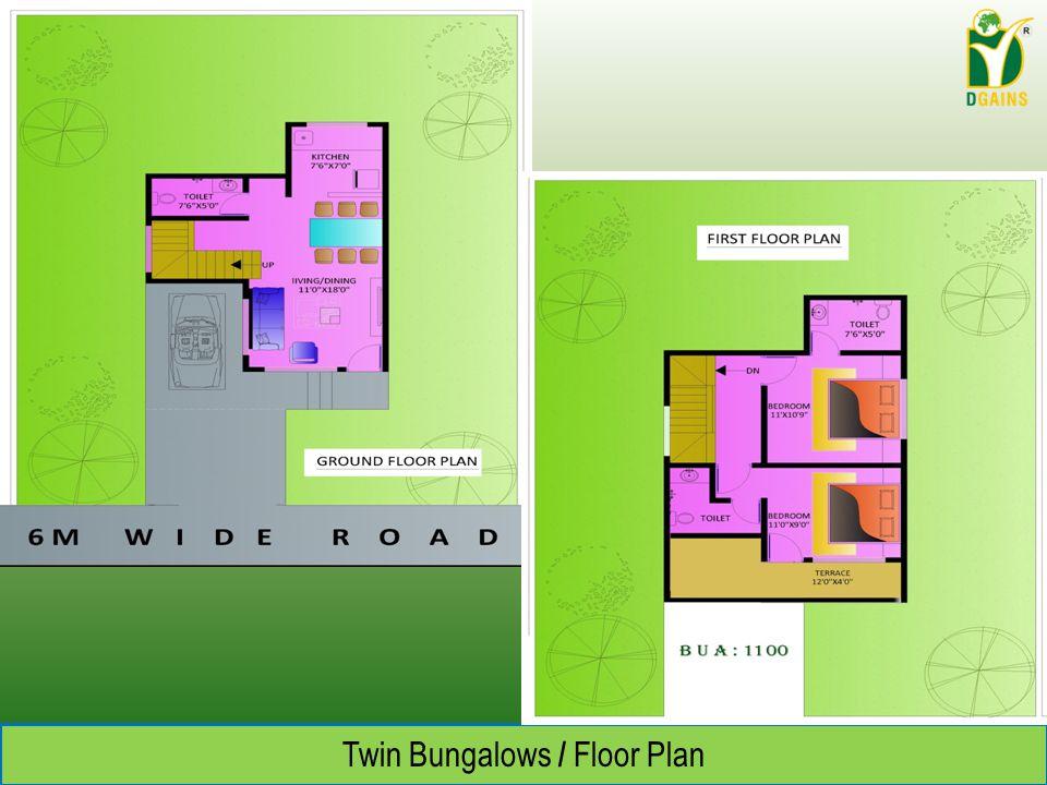 Twin Bungalows / Floor Plan