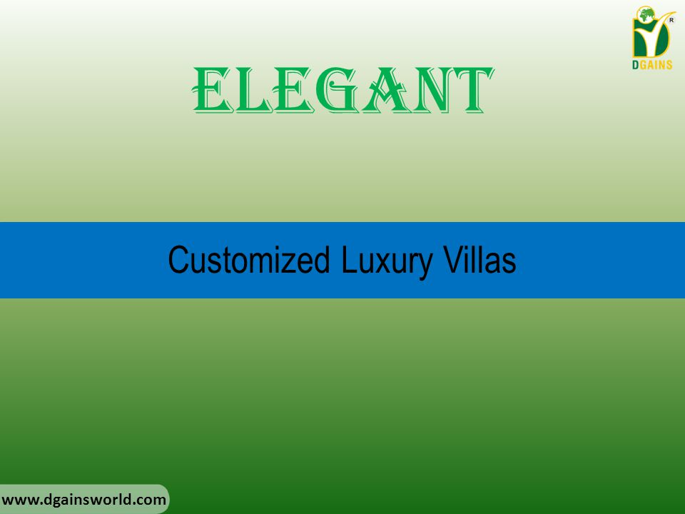 Customized Luxury Villas Elegant www.dgainsworld.com