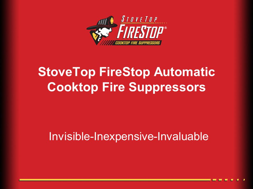 StoveTop FireStop Automatic Cooktop Fire Suppressors Invisible-Inexpensive-Invaluable