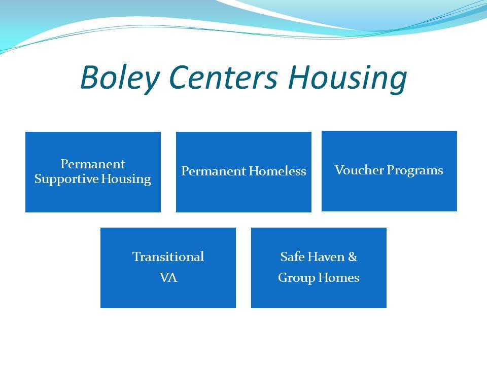 Boley Centers Housing Permanent Supportive Housing Permanent Homeless Voucher Programs Transitional VA Safe Haven & Group Homes