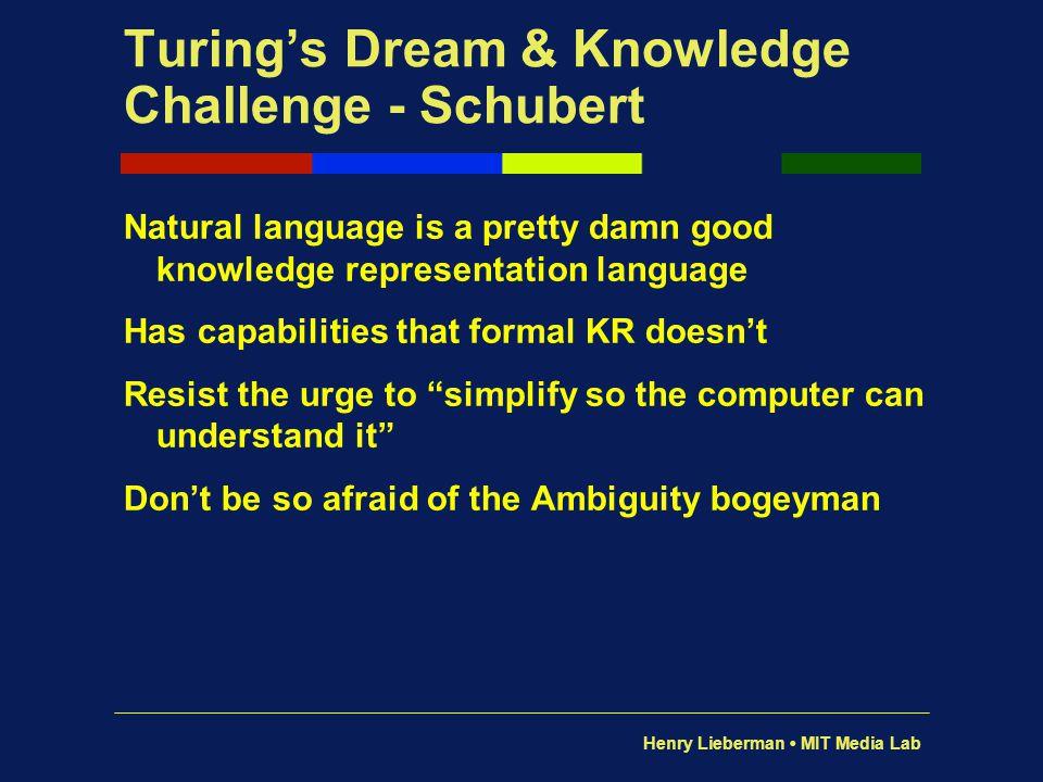 Henry Lieberman MIT Media Lab Open Mind Common Sense http://openmind.media.mit.edu