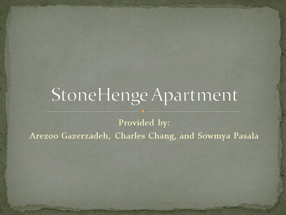 Provided by: Arezoo Gazerzadeh, Charles Chang, and Sowmya Pasala