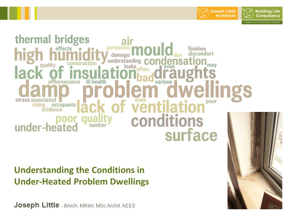 Understanding the Conditions in Under-Heated Problem Dwellings 10 slides max!.