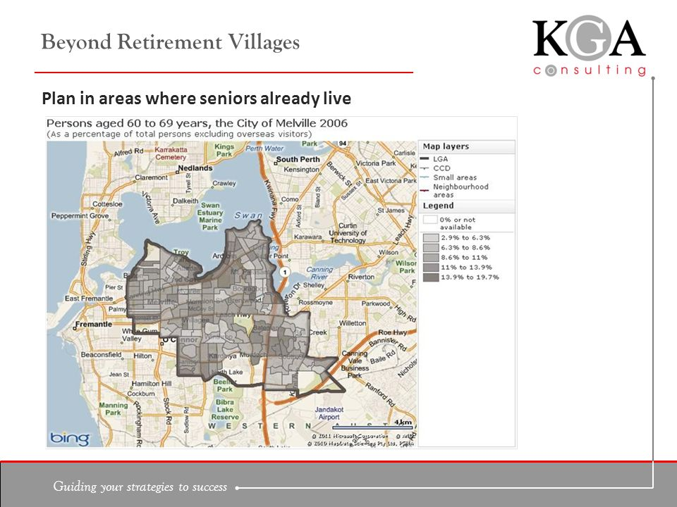 Guiding your strategies to success Beyond Retirement Villages Plan in areas where seniors already live