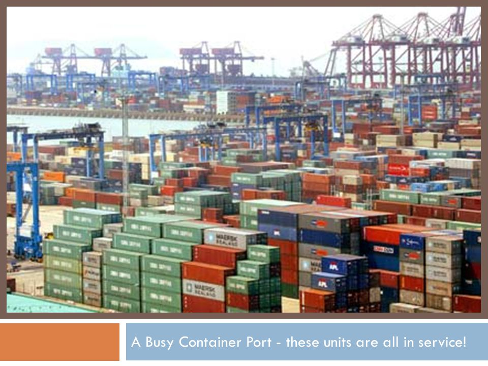 A Busy Container Port - these units are all in service!