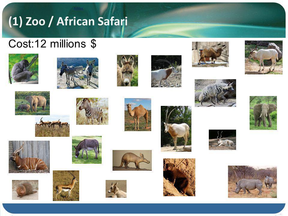 Addax (1) Zoo / African Safari Cost:12 millions $