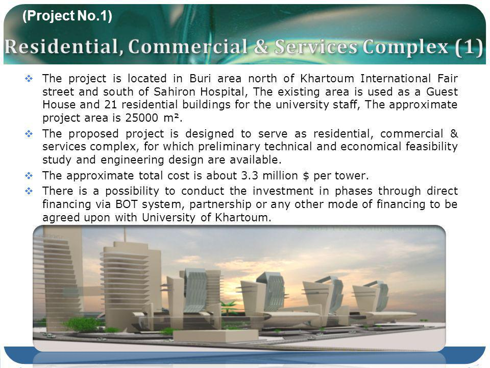 The project is located in Buri area north of Khartoum International Fair street and south of Sahiron Hospital, The existing area is used as a Guest Ho
