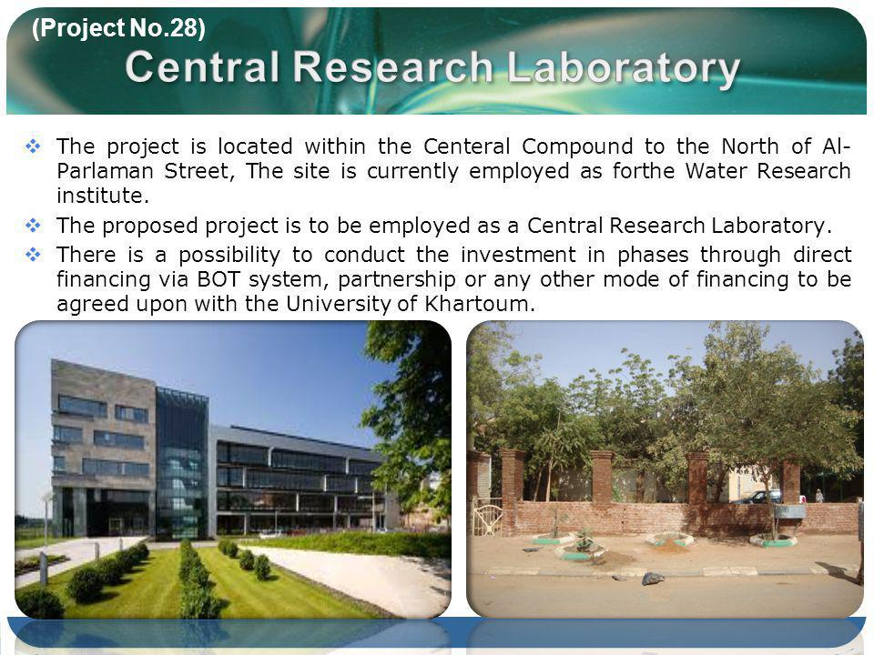 The project is located within the Centeral Compound to the North of Al- Parlaman Street, The site is currently employed as forthe Water Research institute.