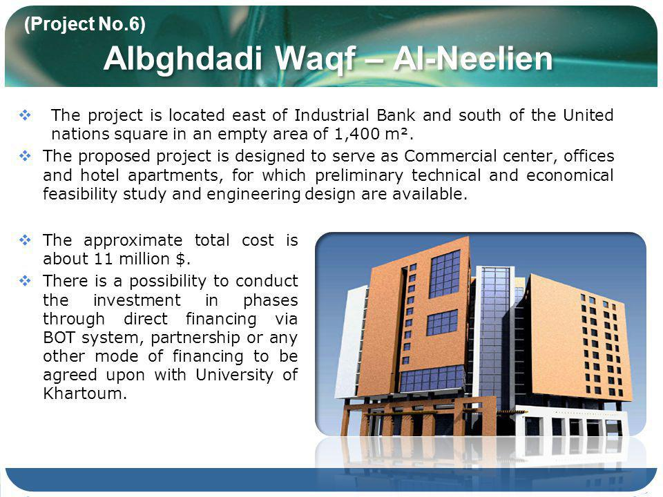 The project is located east of Industrial Bank and south of the United nations square in an empty area of 1,400 m².