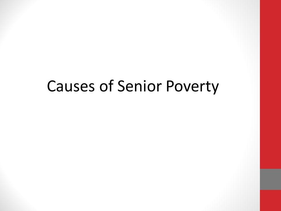 Causes of Senior Poverty