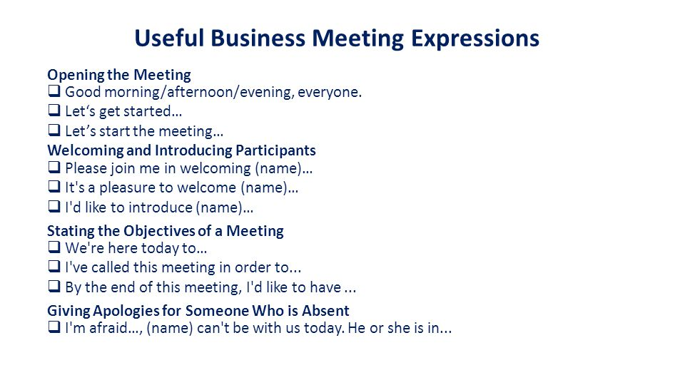 Agenda [Meeting Title] [Date] [Time] Meeting called by: [Name] Participants: [Attendee list] Please read: [Reading list] Please bring: [Supplies list] [Time] [Opening] [Welcome and introductions] [Objective] [Discuss agenda] [Time] [Agenda Item 1] [Time] [Agenda Item 2] [Time] [Closing] [Summarize main points] [Schedule next meeting]