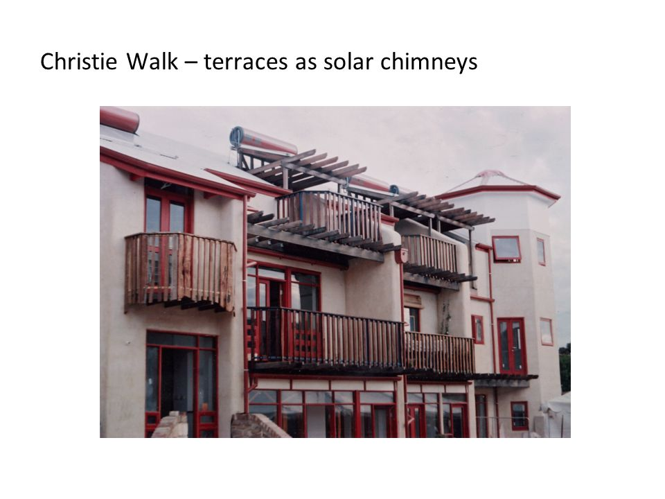 Christie Walk – terraces as solar chimneys