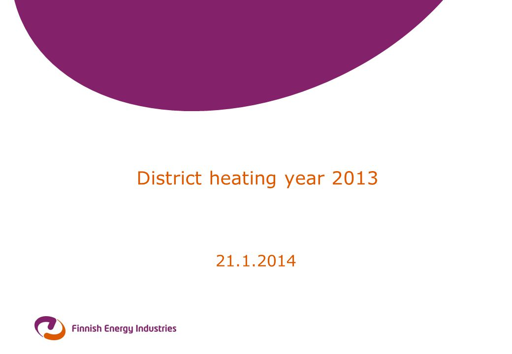District heating year 2013 21.1.2014