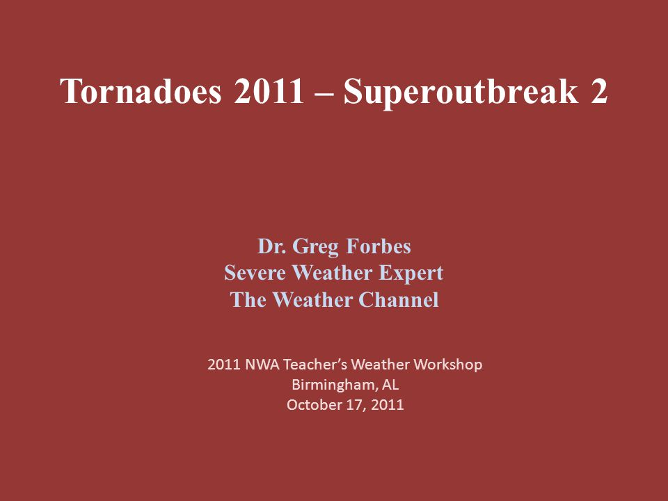 Tornadoes 2011 – Superoutbreak 2 Dr.