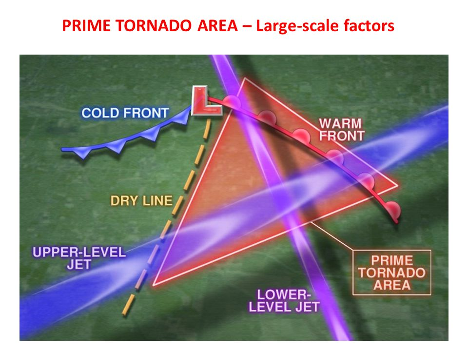 PRIME TORNADO AREA – Large-scale factors