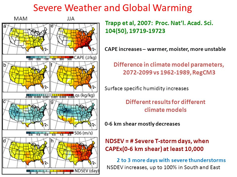 Severe Weather and Global Warming Trapp et al, 2007: Proc.