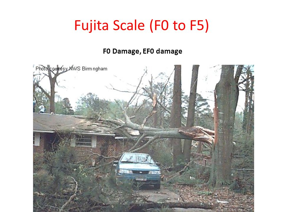 Fujita Scale (F0 to F5) F0 Damage, EF0 damage