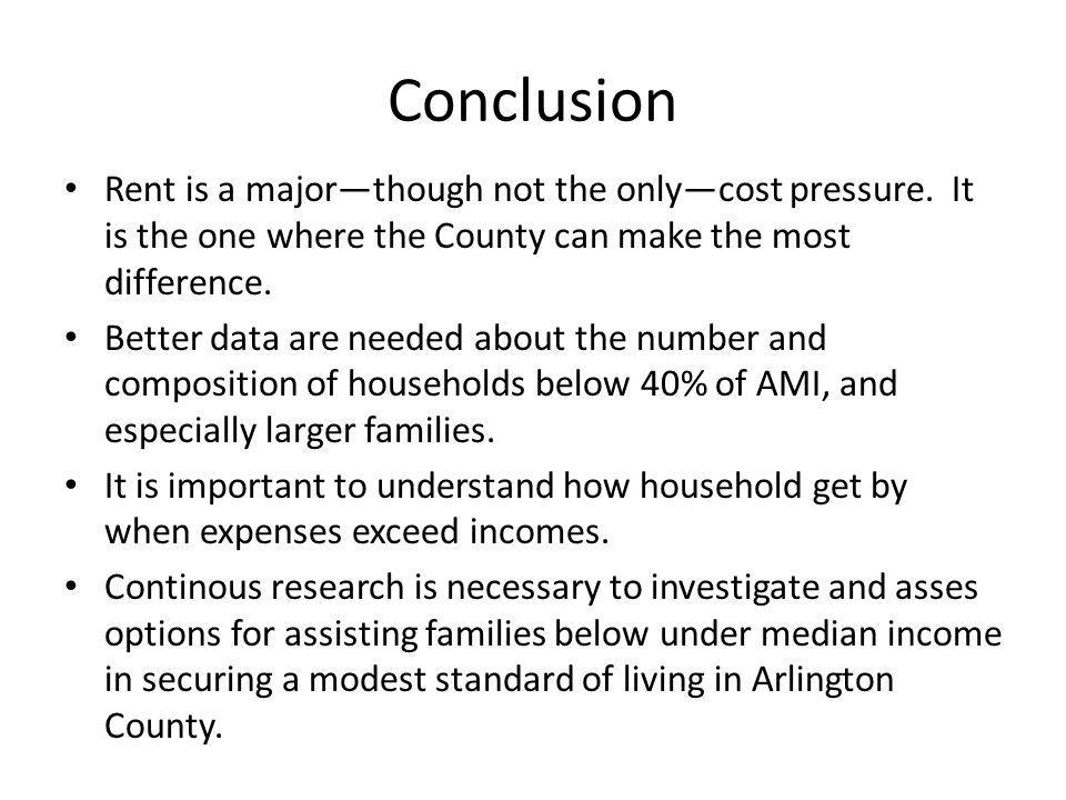 Conclusion Rent is a majorthough not the onlycost pressure.