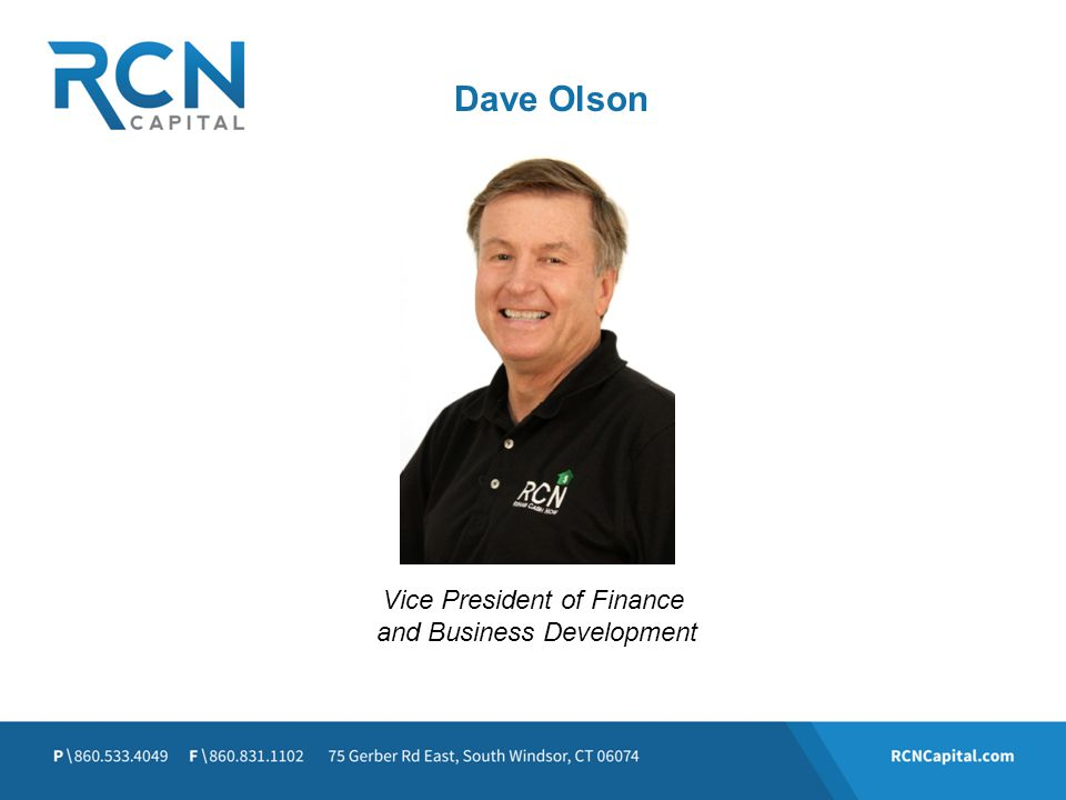 Dave Olson Vice President of Finance and Business Development