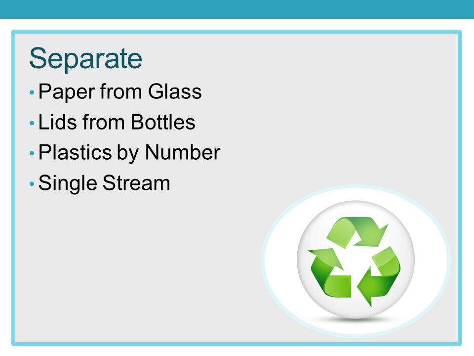 Separate Paper from Glass Lids from Bottles Plastics by Number Single Stream
