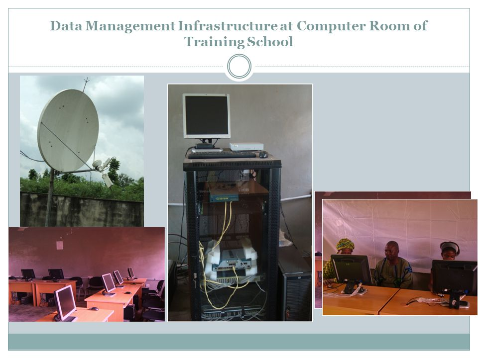 Data Management Infrastructure at Computer Room of Training School
