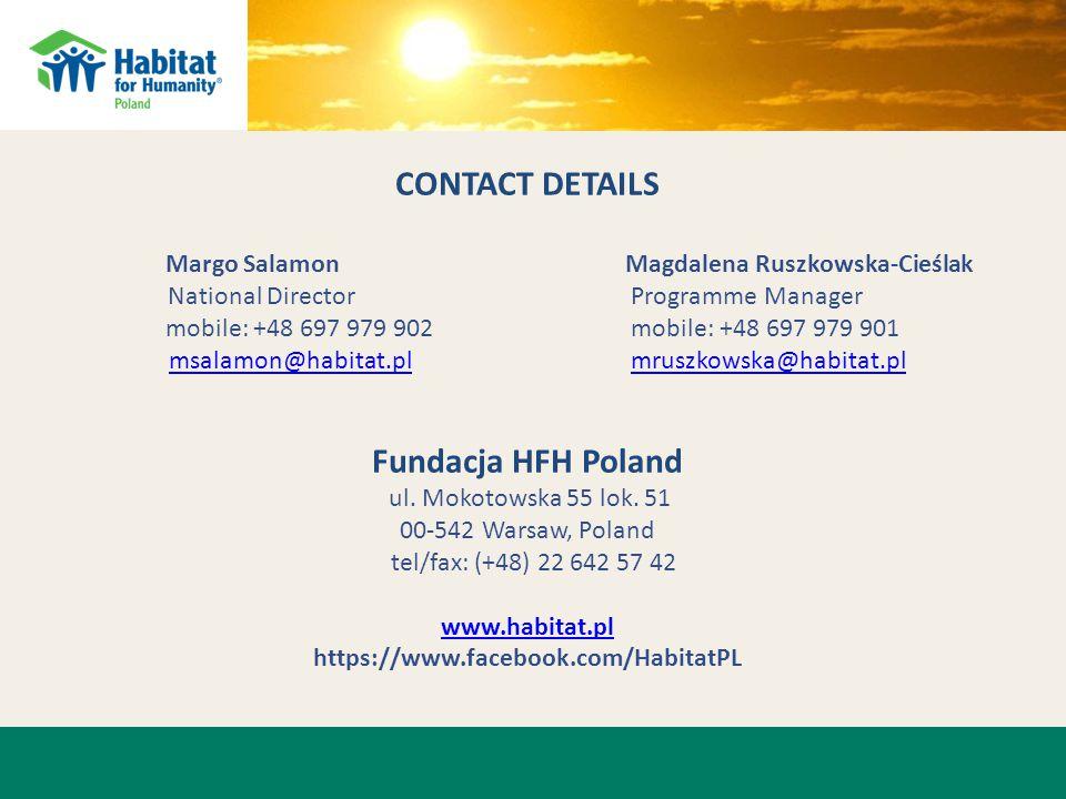 CONTACT DETAILS Margo SalamonMagdalena Ruszkowska-Cieślak National Director Programme Manager mobile: +48 697 979 902 mobile: +48 697 979 901 msalamon