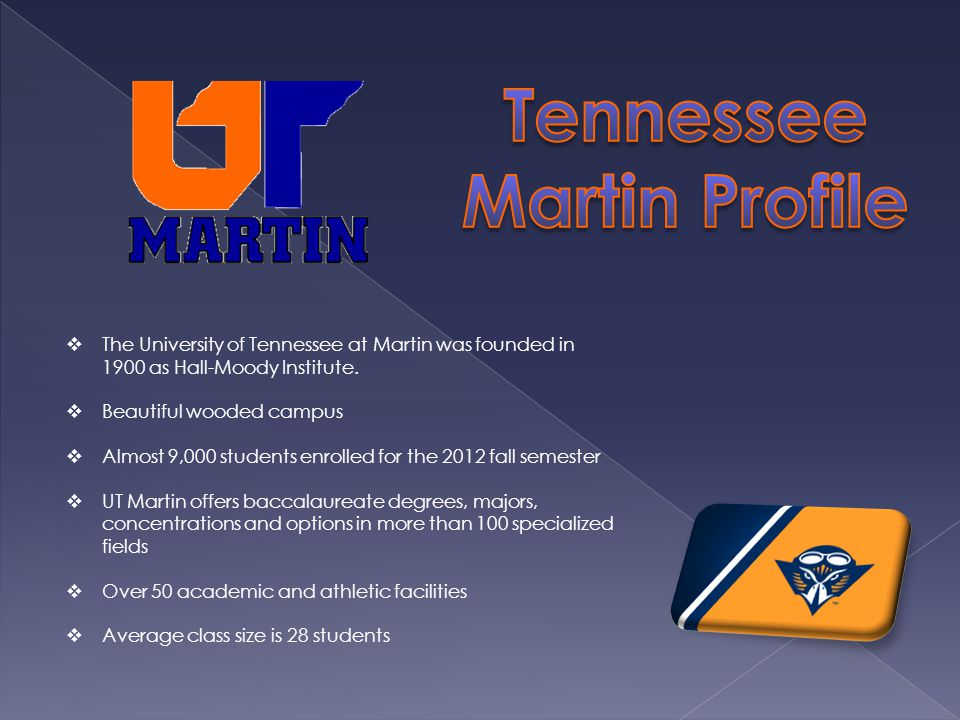 The University of Tennessee at Martin was founded in 1900 as Hall-Moody Institute.