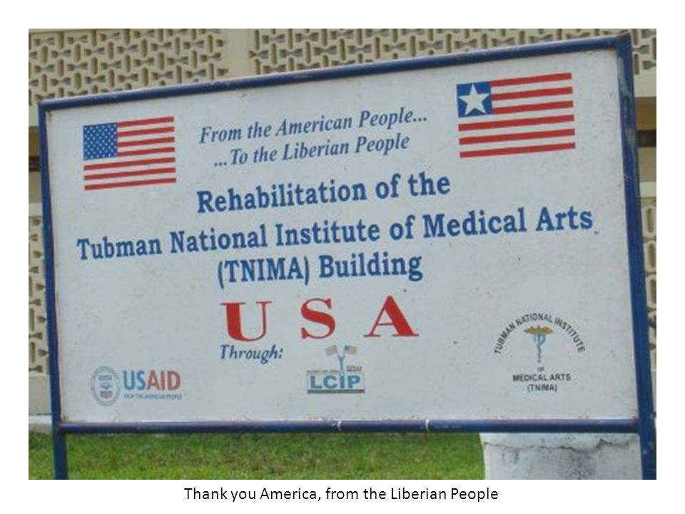 Thank you America, from the Liberian People