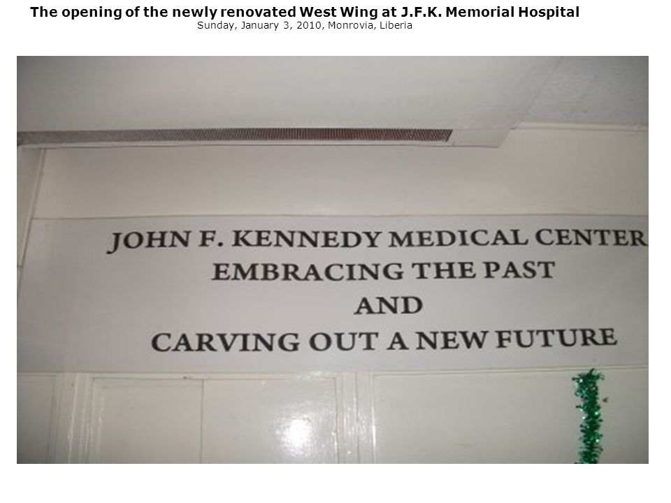 The opening of the newly renovated West Wing at J.F.K.