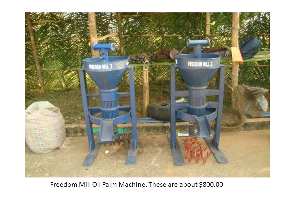 Freedom Mill Oil Palm Machine. These are about $800.00