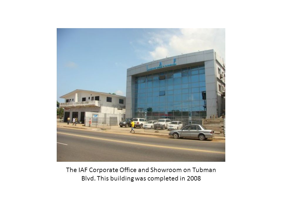 The IAF Corporate Office and Showroom on Tubman Blvd. This building was completed in 2008