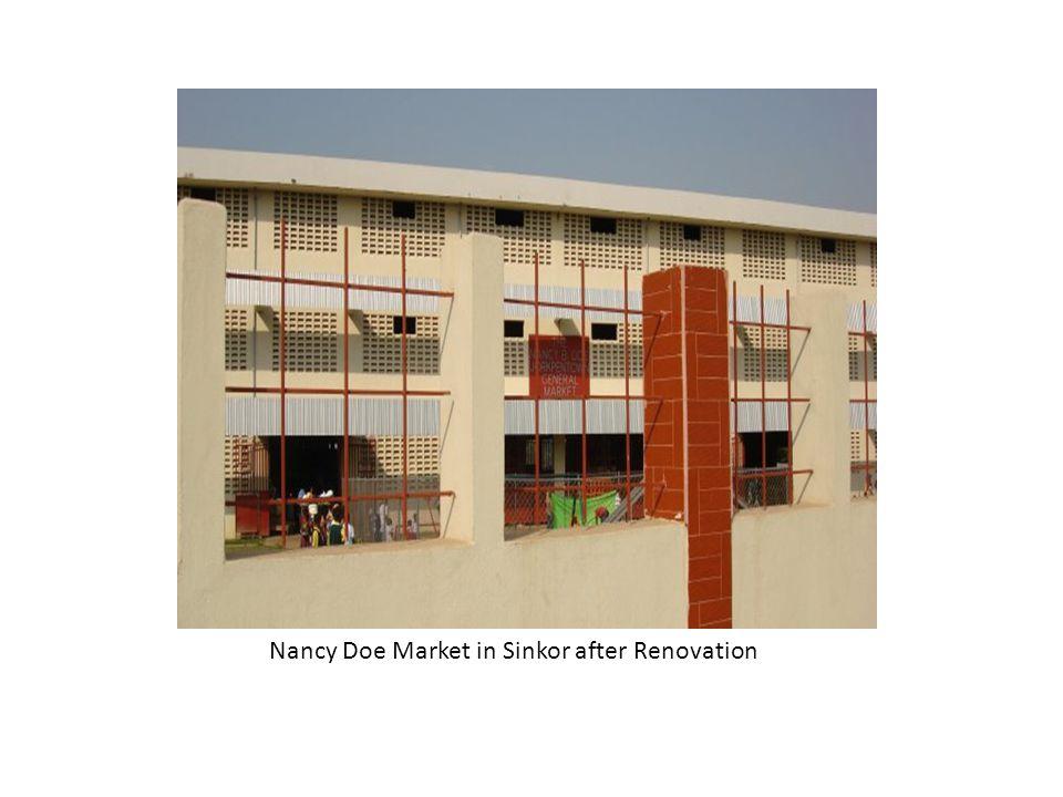 Nancy Doe Market in Sinkor after Renovation