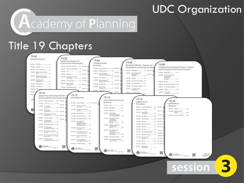 UDC Organization Title 19 Chapters