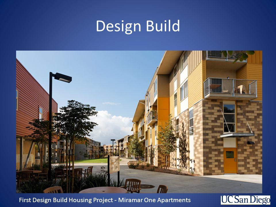 Design Build First Design Build Housing Project - Miramar One Apartments