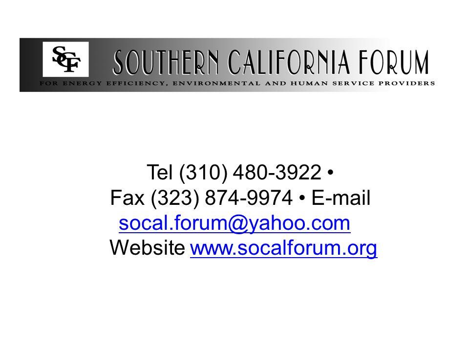 Tel (310) 480-3922 Fax (323) 874-9974 E-mail socal.forum@yahoo.com socal.forum@yahoo.com Website www.socalforum.orgwww.socalforum.org