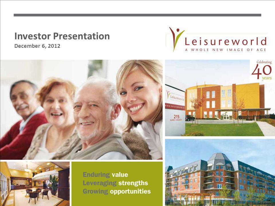 Investor Presentation December 6, 2012