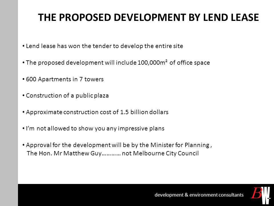 COLLINS STREET BRIDGE DECLARATION (CONTINUED) development & environment consultants Declaration Survey of Collins Street Bridge Required: -Thorough search of Land Status -As-constructed survey of the bridge deck and piers -Search of historical design drawings for the bridge