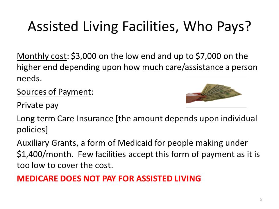 Assisted Living Facilities, Who Pays.