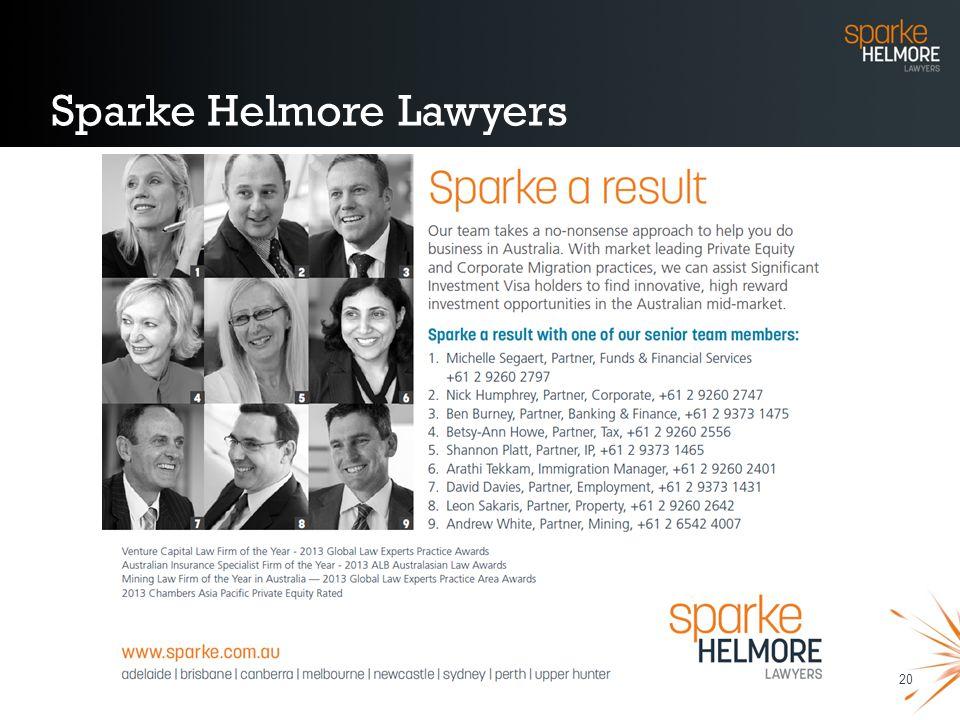 20 Sparke Helmore Lawyers