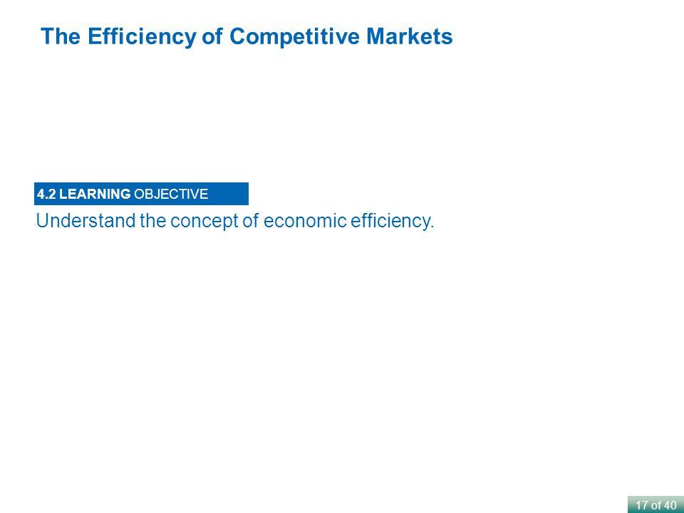 17 of 40 Understand the concept of economic efficiency.