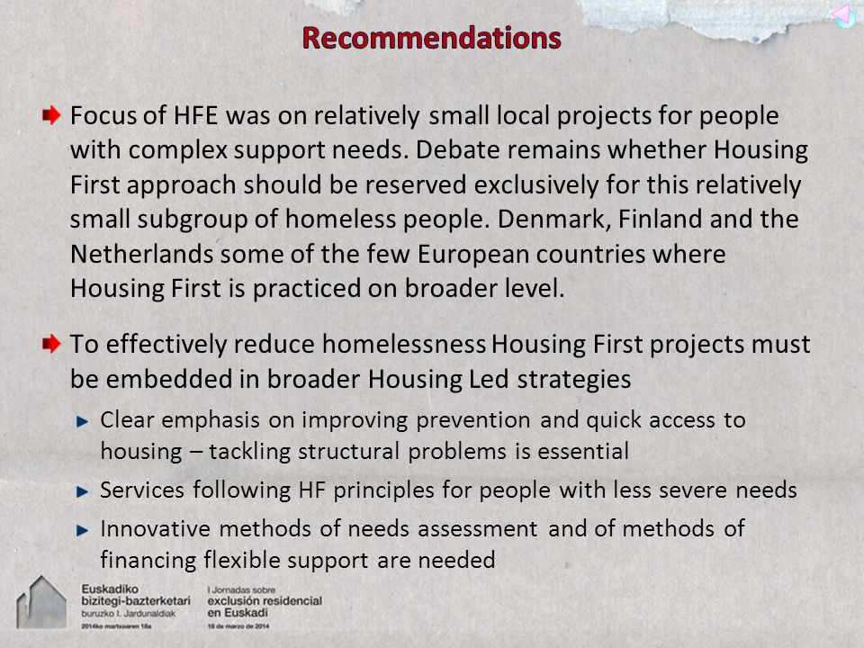 Focus of HFE was on relatively small local projects for people with complex support needs.