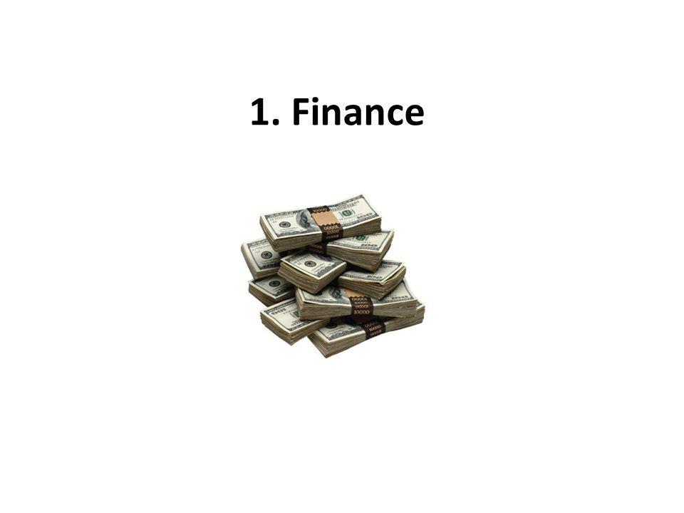 1. Finance